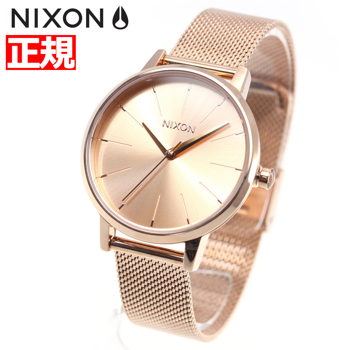 【SHOP OF THE YEAR 2018 受賞】ニクソン NIXON ケンジントン ミラネーゼ KENSINGTON MILANESE 腕時計 レディース ALL ROSE GOLD NA1229897-00【2018 新作】