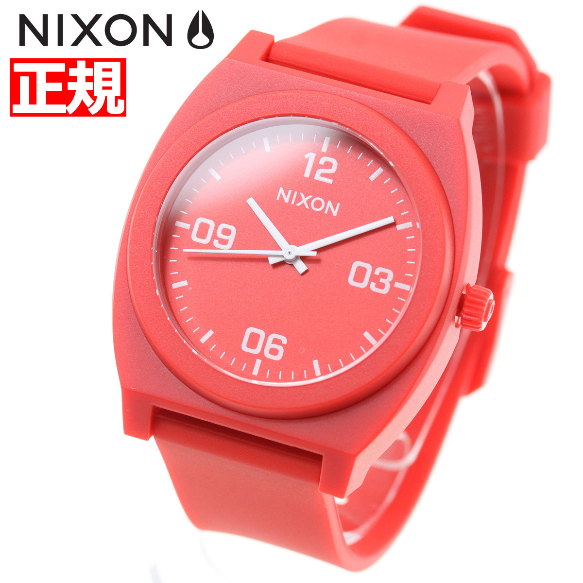 ニクソン NIXON タイムテラーP コープ TIME TELLER P CORP 腕時計 メンズ/レディース マットレッド/ホワイト NA12483008-00【2018 新作】