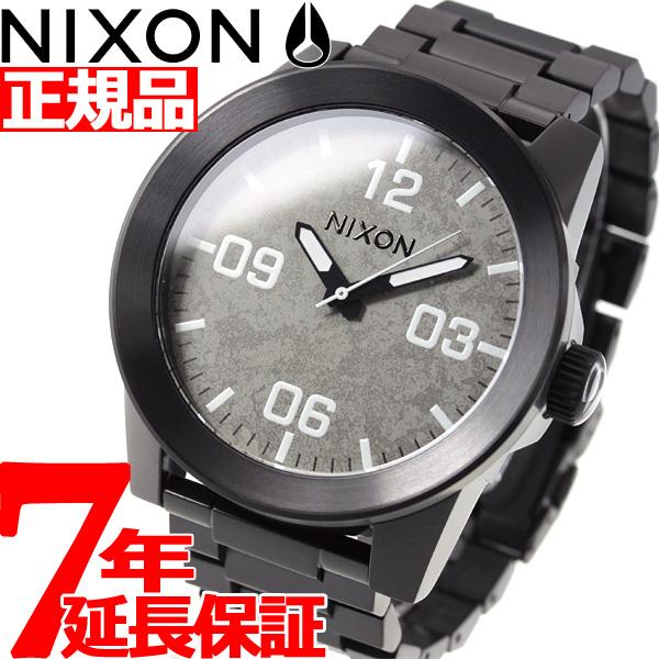 ニクソン NIXON コーポラルSS CORPORAL SS 腕時計 メンズ ブラック/コンクリート NA3462687-00