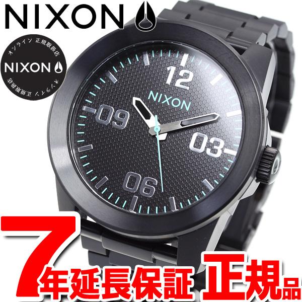 ニクソン NIXON コーポラル SS Corporal SS 腕時計 メンズ オールブラック/ブルー NA346602-00