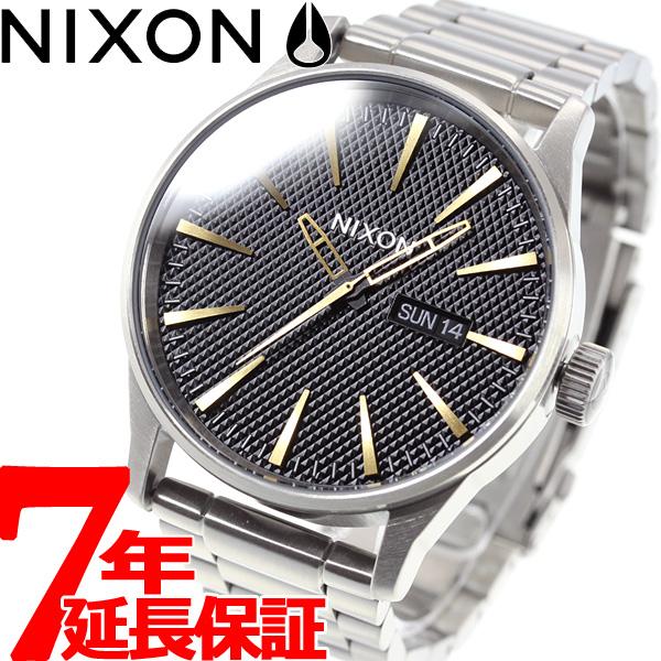 ニクソン NIXON セントリーSS SENTRY SS 腕時計 メンズ ブラックスタンプ/ゴールド NA3562730-00