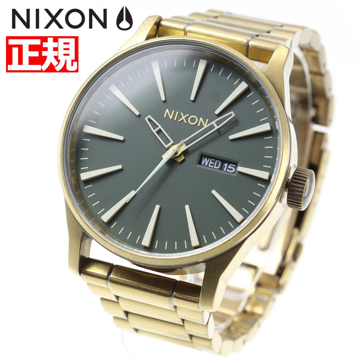 ニクソン NIXON セントリーSS SENTRY SS 腕時計 メンズ PALM GREEN/BRASS NA3562851-00【2018 新作】