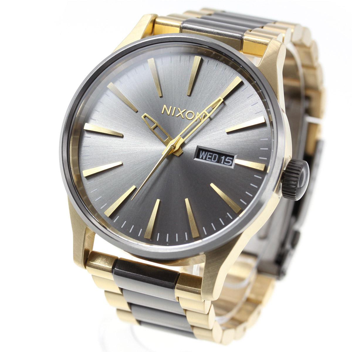 ニクソン NIXON セントリーSS SENTRY SS 腕時計 メンズ GUNMETAL/GOLD NA356595-00【2018 新作】