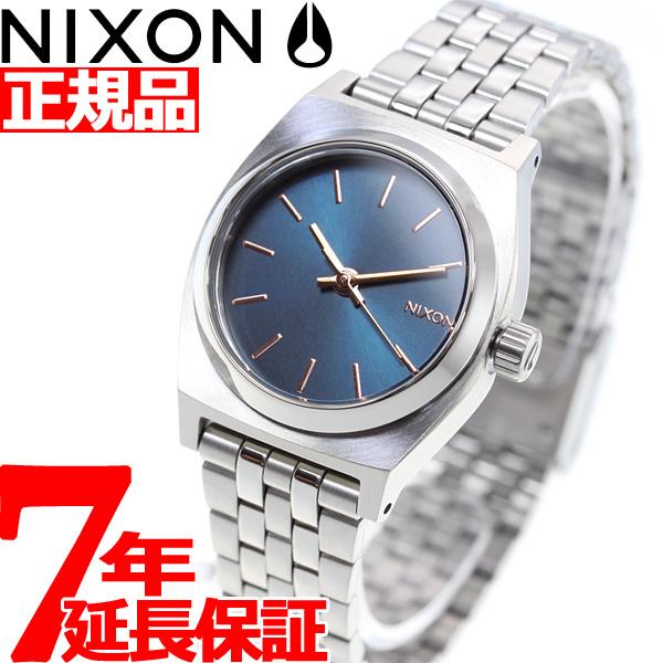ニクソン NIXON スモールタイムテラー SMALL TIME TELLER 腕時計 レディース ネイビー/ローズゴールド NA3992195-00