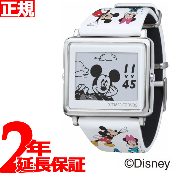 エプソン スマートキャンバス EPSON smart canvas ディズニー Mickey & Friends ミッキーと仲間たち 限定モデル 腕時計 メンズ レディース W1-DY3045L【2018 新作】