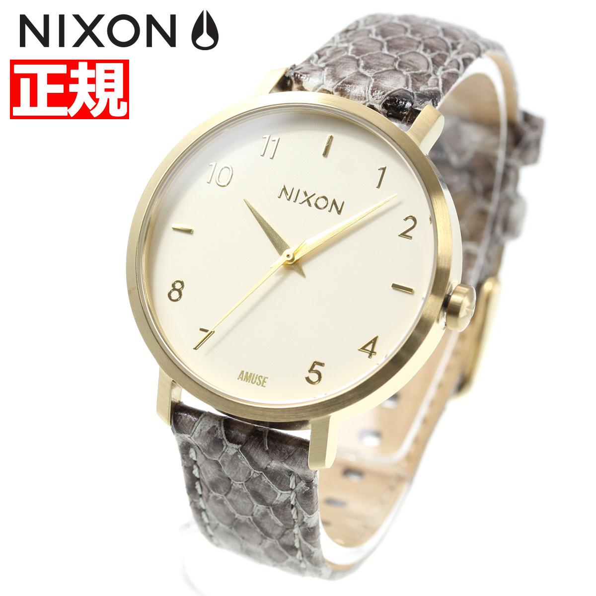 ニクソン NIXON アロー レザー ARROW LEATHER 腕時計 レディース ゴールド/トープ/アミューズ NA10912890-00