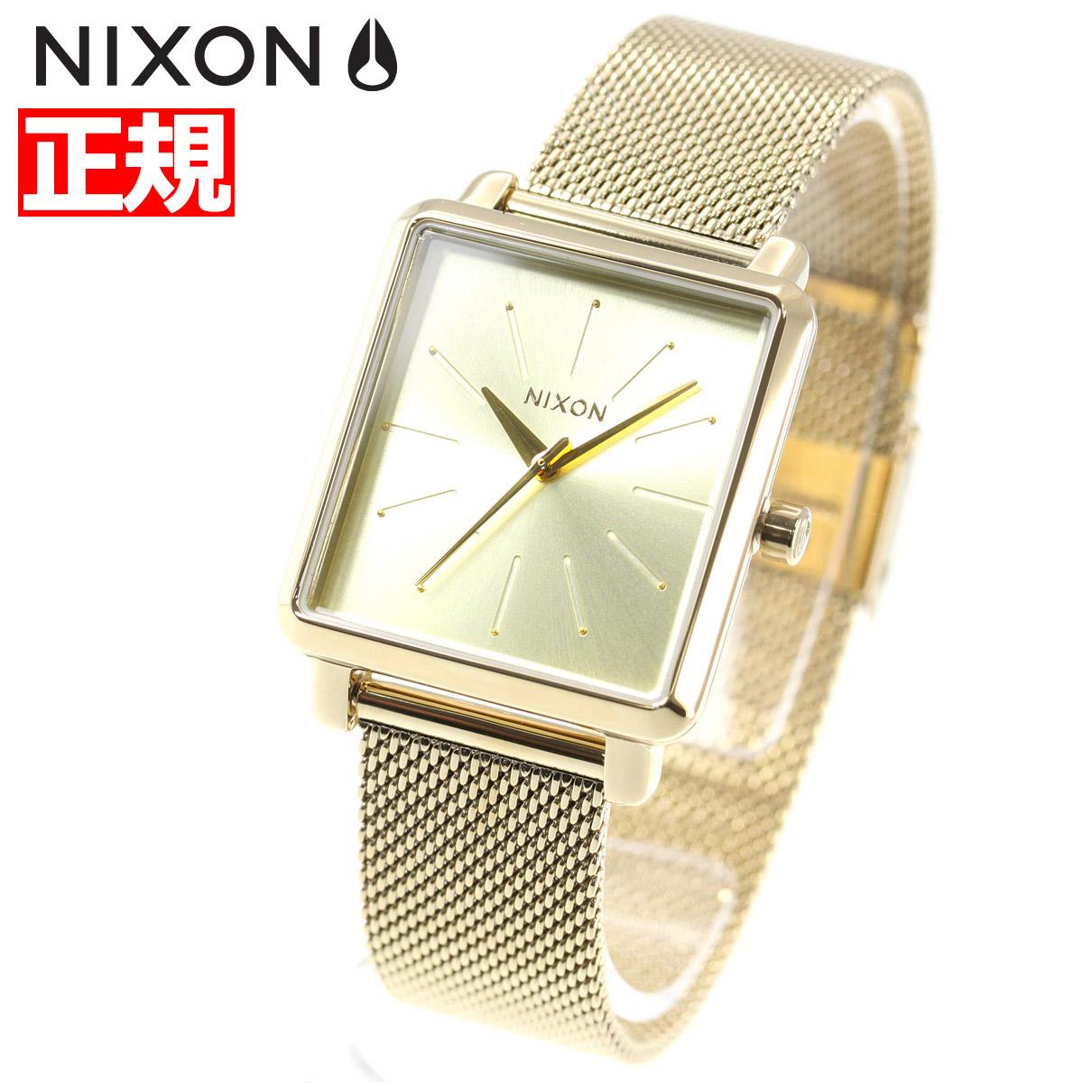 【5日0時~♪10%OFFクーポン&店内ポイント最大51倍!5日23時59分まで】ニクソン NIXON K スクエアード ミラネーゼ K SQUARED MILANESE 腕時計 レディース オールゴールド NA1206502-00