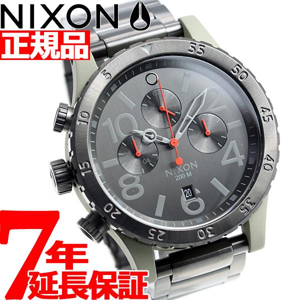 【SHOP OF THE YEAR 2018 受賞】ニクソン NIXON 48-20クロノ 48-20 CHRONO 腕時計 メンズ クロノグラフ セージ/ガンメタル NA4862220-00