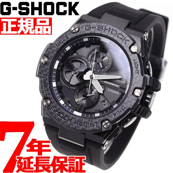 ニールならポイント最大35倍!30日23時59分まで!G-SHOCK G-STEEL カシオ Gショック Gスチール CASIO Carbon Edition ソーラー 腕時計 メンズ タフソーラー GST-B100X-1AJF