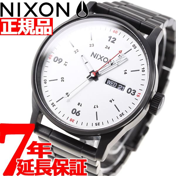 ニクソン NIXON セントリーSS SENTRY SS 腕時計 メンズ ブラック/ホワイト NA356005-00【2018 新作】