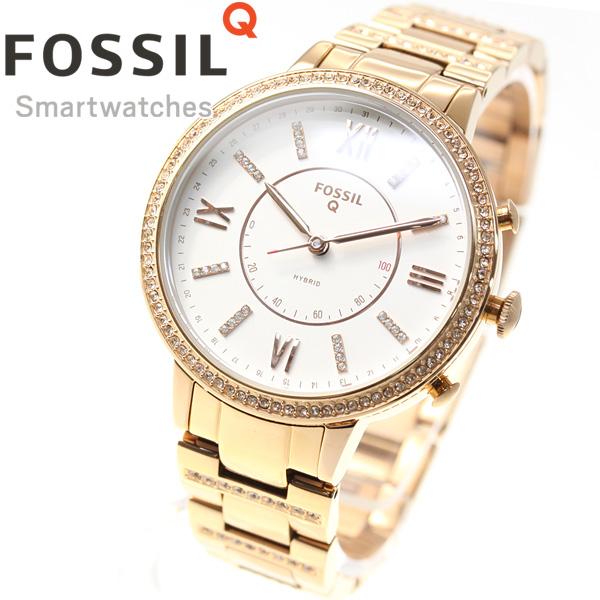 【SHOP OF THE YEAR 2018 受賞】フォッシル FOSSIL Q ハイブリッド スマートウォッチ ウェアラブル 腕時計 レディース ヴァージニア Q VIRGINIA FTW5010