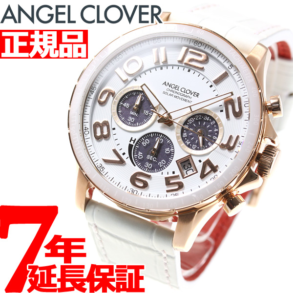 エンジェルクローバー ANGEL CLOVER ソーラー 腕時計 メンズ ルーチェ ソラーレ LUCE SOLARE クロノグラフ LUS44P-WH【2018 新作】