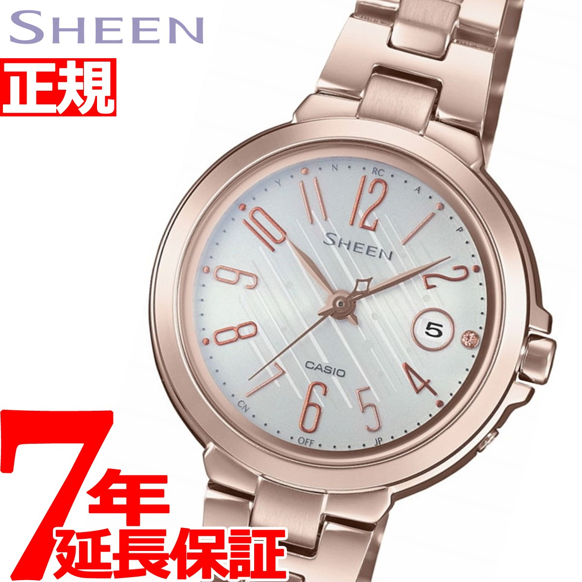 12b4c19283 カシオシーンCASIOSHEEN電波ソーラー電波時計腕時計レディースSHW-5100CG-7AJF【2018
