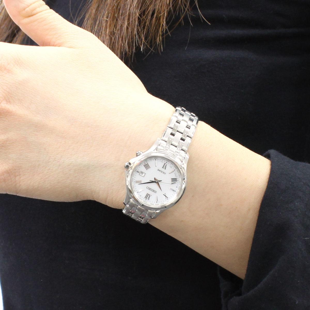 セイコーエクセリーヌSEIKOEXCELINE電波ソーラー電波時計腕時計レディースペアウオッチSWCW161【2018新作】