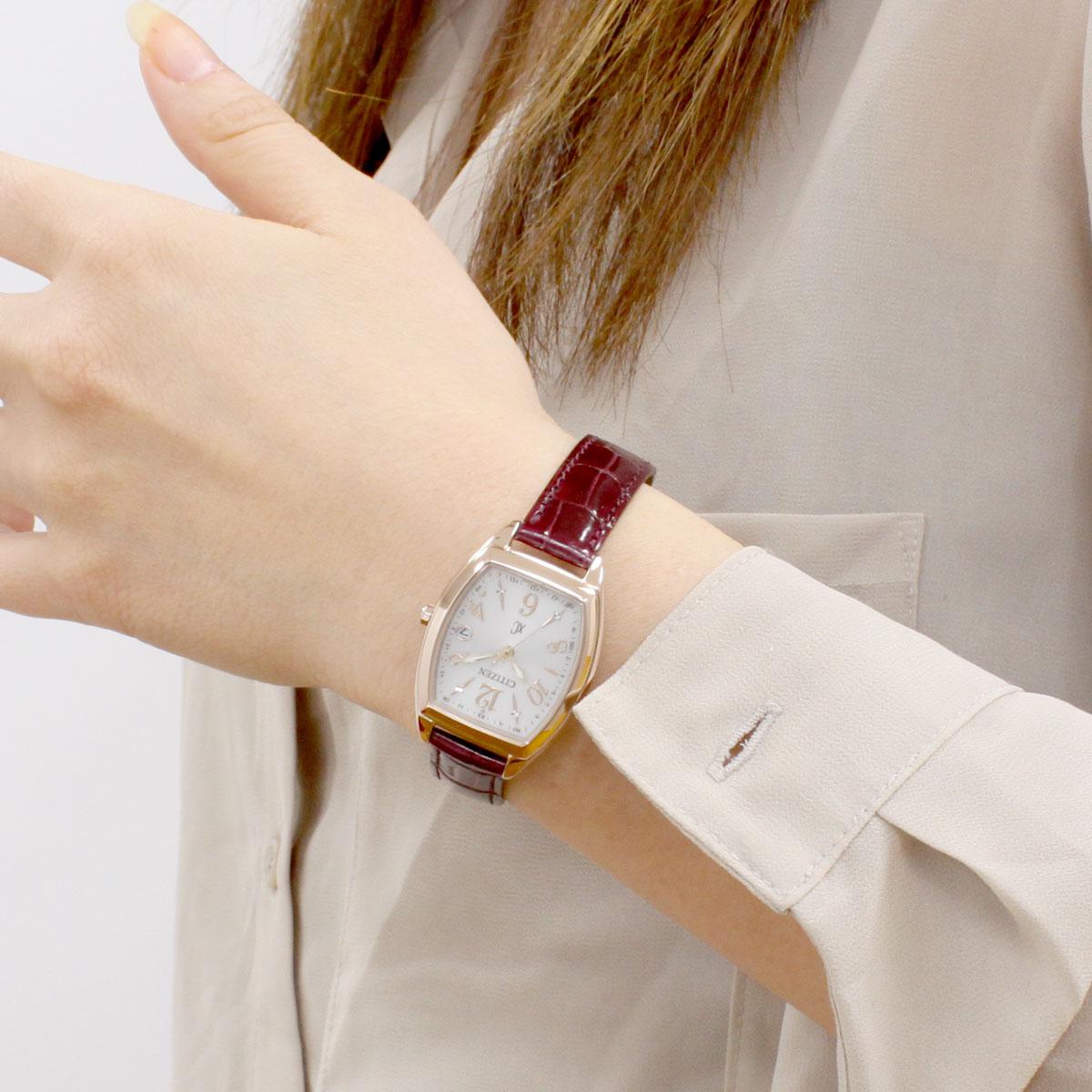 シチズン クロスシー CITIZEN xC エコドライブ 電波時計 ステンレススチールライン ハッピーフライト 腕時計 レディース ES9394-56A【2018 新作】