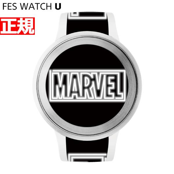 ソニー フェスウォッチ Sony FES Watch U MARVEL Comics スマートフォン連動ウォッチ 電子ペーパー 限定モデル 腕時計 メンズ レディース ホワイト FES-WA1-CO7/W【2018 新作】