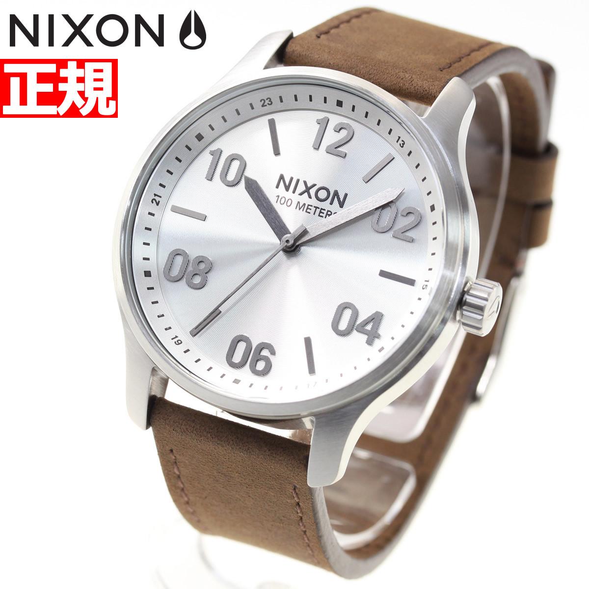 ニクソン NIXON パトロール レザー PATROL LEATHER 腕時計 メンズ シルバー/ブラウン NA12431113-00【2018 新作】