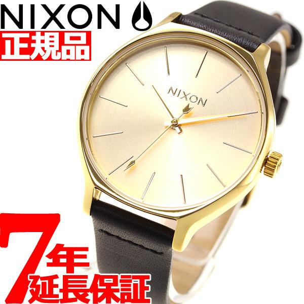 ニクソン NIXON クリック レザー CLIQUE LEATHER 腕時計 レディース オールゴールド/ブラック NA1250510-00【2018 新作】, OnlyOne shop 9c374b6e