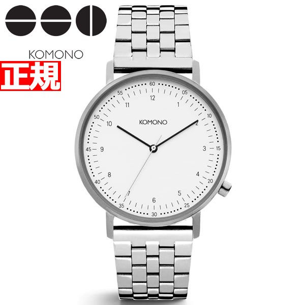 KOMONO 時計 メンズ コモノ 腕時計 ルイス エステート シルバー KOM-W4077【2018 新作】