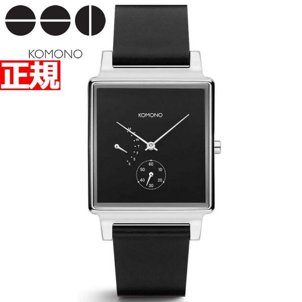 KOMONO 時計 レディース コモノ 腕時計 コンラッド レトログレード ブラック シルバー KOM-W4202【2018 新作】