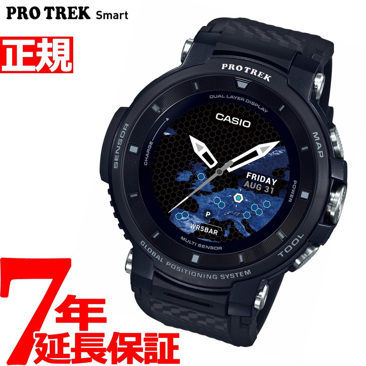 ニールがお得!今ならポイント最大39倍!10日23時59分まで! カシオ プロトレック CASIO PRO TREK スマートアウトドアウォッチ Smart Outdoor Watch ブラック 腕時計 メンズ WSD-F30-BK【2018 新作】
