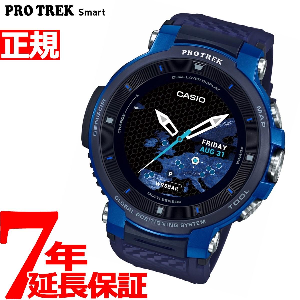 【5日0時~♪2000円OFFクーポン&店内ポイント最大51倍!5日23時59分まで】カシオ プロトレック CASIO PRO TREK スマートアウトドアウォッチ Smart Outdoor Watch ブルー 腕時計 メンズ WSD-F30-BU
