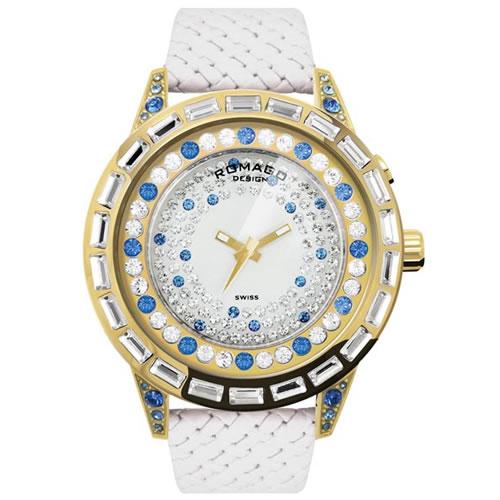 【お買い物マラソンは当店がお得♪本日20より!】ロマゴ デザイン ROMAGO DESIGN 腕時計 レディース DAZZLE ダズル RM006-1477GD-BU