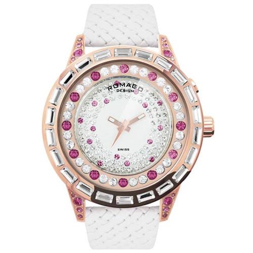 【お買い物マラソンは当店がお得♪本日20より!】ロマゴ デザイン ROMAGO DESIGN 腕時計 レディース DAZZLE ダズル RM006-1477RG-PK