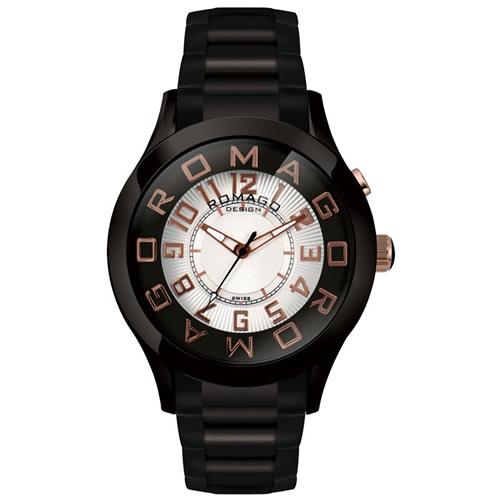 【お買い物マラソンは当店がお得♪本日20より!】ロマゴ デザイン ROMAGO DESIGN 腕時計 メンズ/レディース ATTRACTION アトラクション RM015-0162SS-BKRG