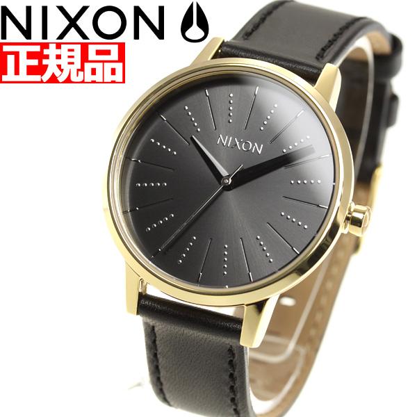 ニクソン NIXON ケンジントン レザー KENSINGTON LEATHER 腕時計 レディース GOLD / BLACK / SILVER NA1082879-00【2018 新作】