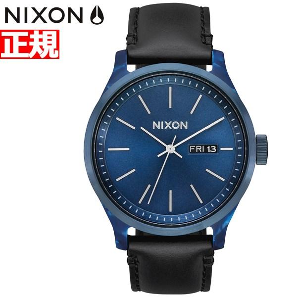 【本日限定!店内ポイント最大60倍&10%OFFクーポン!10日23時59分まで】ニクソン NIXON セントリー リュクス SENTRY LUXE 腕時計 メンズ ブルーアセテート/ブラック NA12633168-00