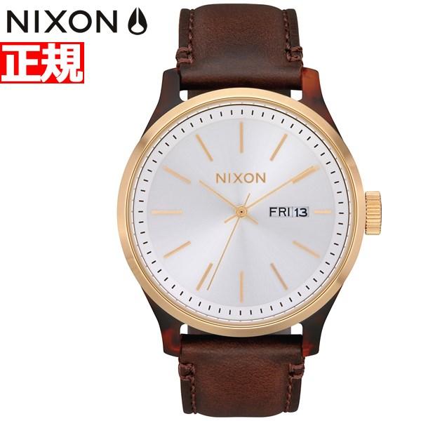 【本日限定!店内ポイント最大60倍&10%OFFクーポン!10日23時59分まで】ニクソン NIXON セントリー リュクス SENTRY LUXE 腕時計 メンズ トートイズ/ホワイトサンレイ/ブラウン NA12633169-00