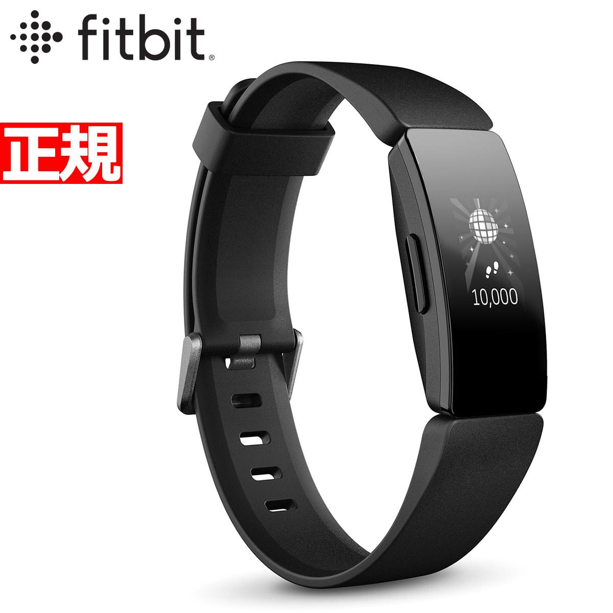 明日20時~ 店内ポイント最大47倍のビッグチャンス!Fitbit フィットビット Inspire HR インスパイアHR フィットネス トラッカー ウェアラブル端末 腕時計 L/Sサイズ ブラック FB413BKBK-FRCJK【2019 新作】