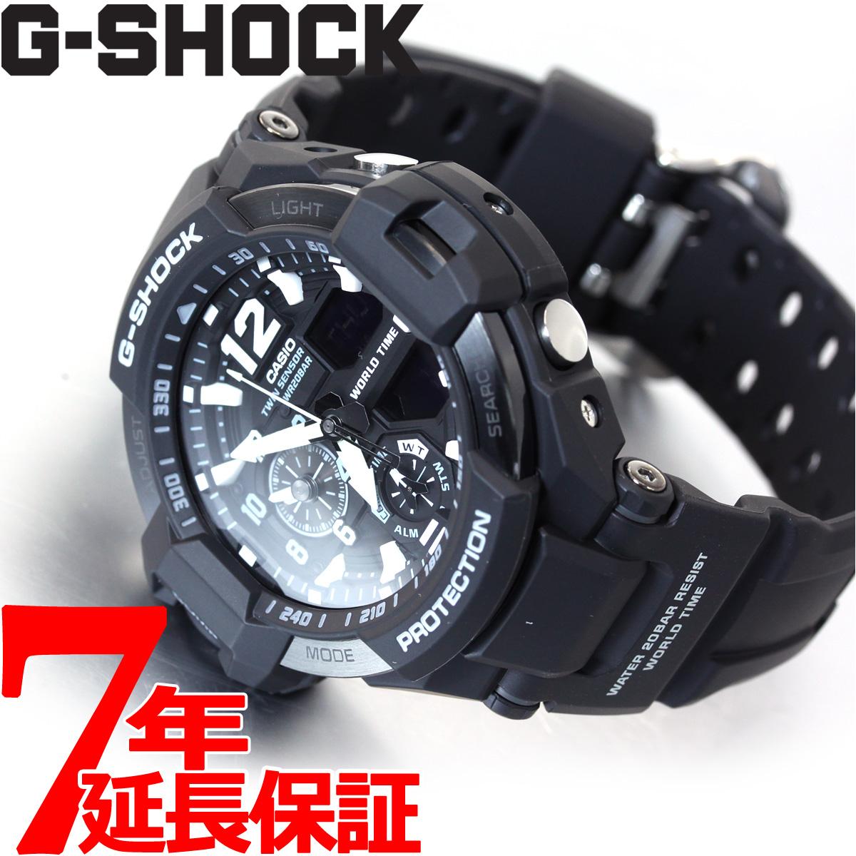 【5日0時~♪2000円OFFクーポン&店内ポイント最大51倍!5日23時59分まで】G-SHOCK ブラック カシオ Gショック スカイコックピット CASIO SKY COCKPIT 腕時計 メンズ アナデジ GA-1100-1AJF