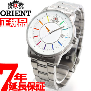 オリエント ORIENT スタイリッシュ&スマート ディスク DISK レインボー 腕時計 メンズ ペアウォッチ 自動巻き WV0821ER