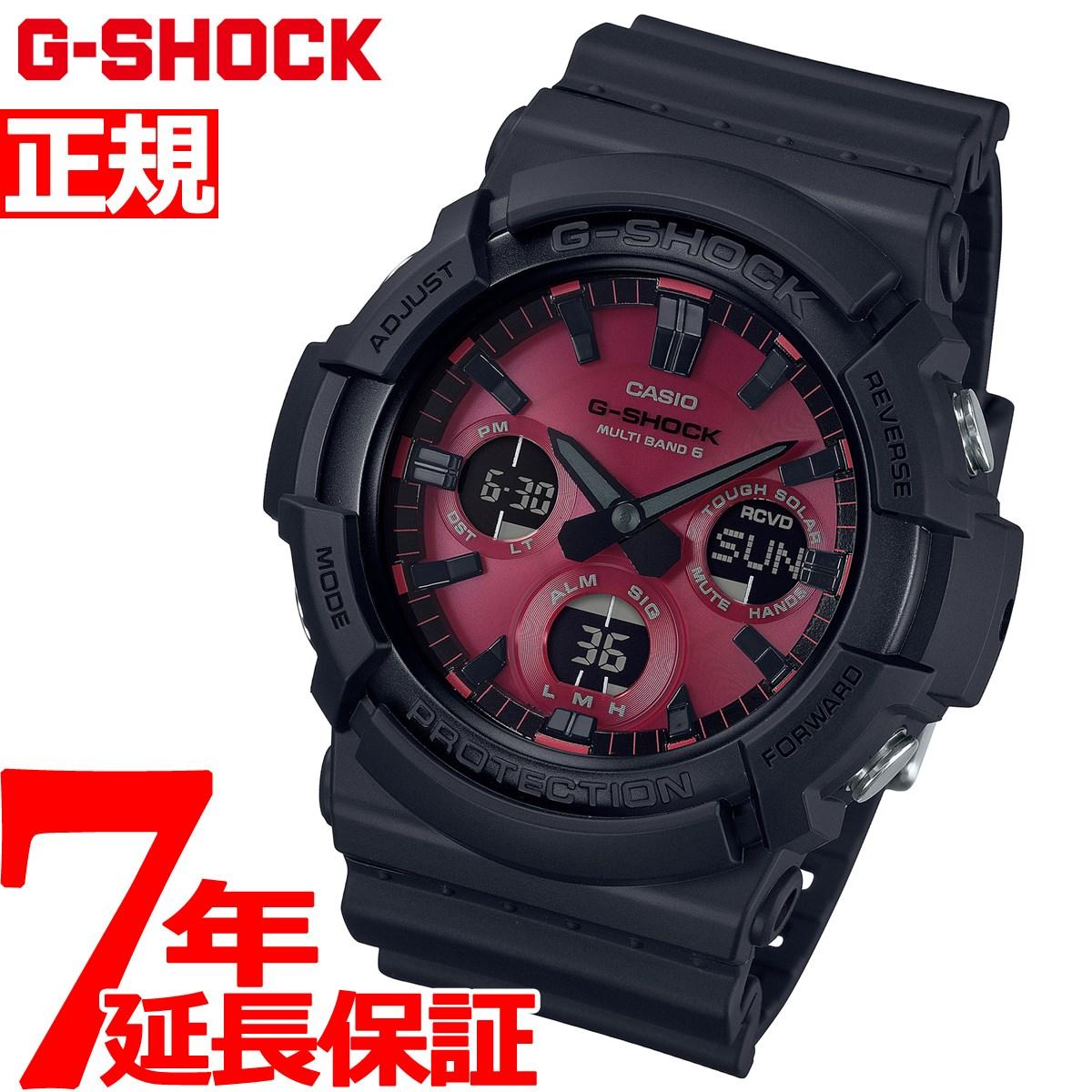 【5日0時~♪2000円OFFクーポン&店内ポイント最大51倍!5日23時59分まで】G-SHOCK 電波 ソーラー カシオ Gショック CASIO 腕時計 メンズ Black and Red Series GAW-100AR-1AJF