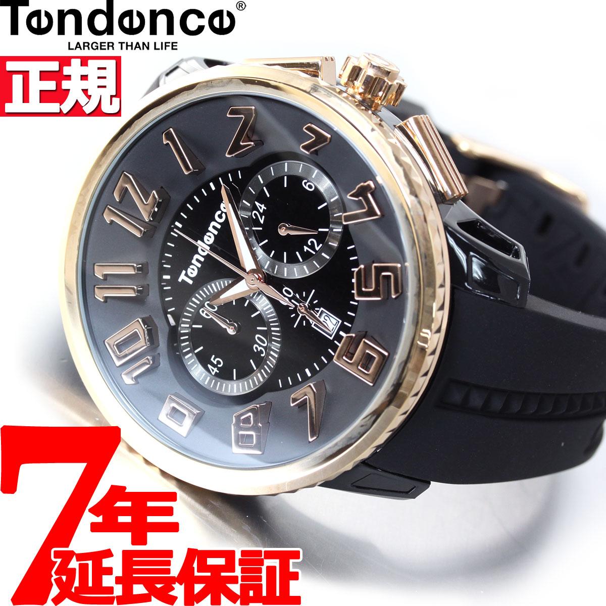 【5日0時~♪10%OFFクーポン&店内ポイント最大51倍!5日23時59分まで】テンデンス Tendence 腕時計 メンズ/レディース ガリバーラウンド GULLIVER ROUND クロノグラフ TG046012R