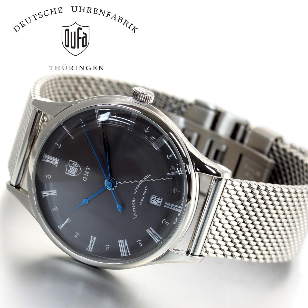 【5日0時~♪10%OFFクーポン&店内ポイント最大51倍!5日23時59分まで】DUFA ドゥッファ Weimar GMT 腕時計 メンズ ヴァイマールGMT DF-9006-11