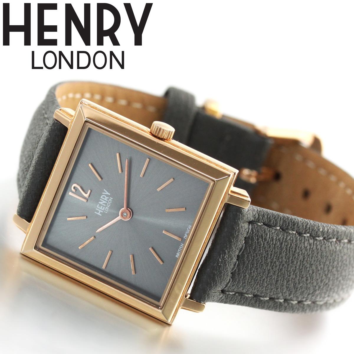【10%OFFクーポン&店内ポイント最大45倍!9日1時59分まで】ヘンリーロンドン HENRY LONDON 腕時計 レディース ヘリテージ スクエア HERITAGE SQUARE HL26-QS-0262