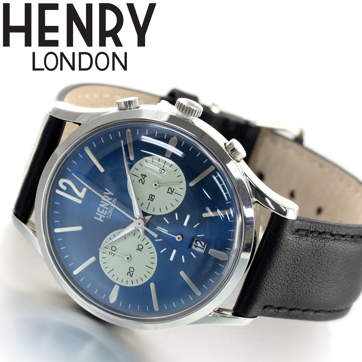 【5日0時~♪10%OFFクーポン&店内ポイント最大51倍!5日23時59分まで】ヘンリーロンドン HENRY LONDON 腕時計 メンズ レディース KNIGHTSBRIDGE HL41-CS-0039