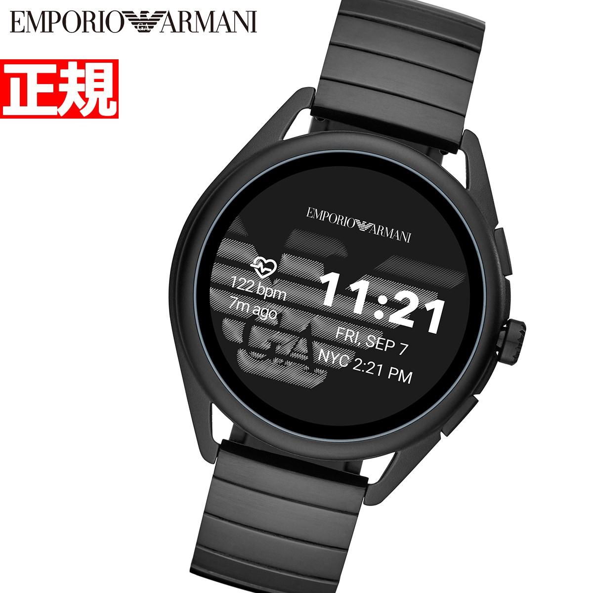【本日限定!店内ポイント最大60倍&10%OFFクーポン!10日23時59分まで】エンポリオアルマーニ EMPORIO ARMANI コネクテッド スマートウォッチ ウェアラブル 腕時計 メンズ ART5020