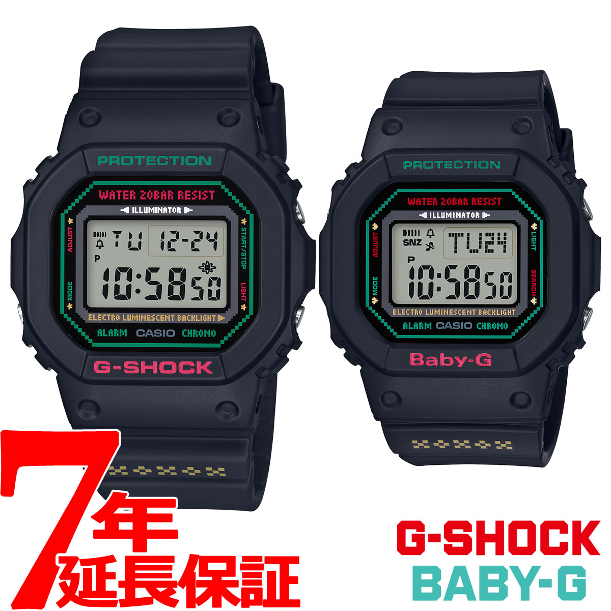 シオ CASIO ラバーズコレクション2019 クリスマス限定モデル Gショック G-SHOCK ベビーG BABY-G 腕時計 ペアウォッチ ラバコレ LOV-19B-1JR