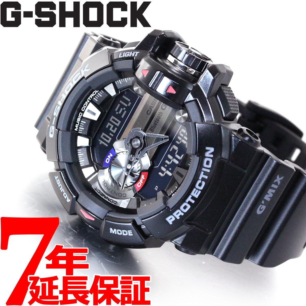 【5日0時~♪2000円OFFクーポン&店内ポイント最大51倍!5日23時59分まで】G-SHOCK ブラック Bluetooth SMART対応スマートフォン連携モデル G'MIX 腕時計 メンズ アナデジ GBA-400-1AJF