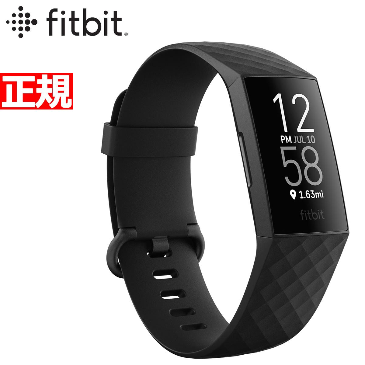 Fitbit フィットビット Charge3 チャージ3 フィットネス トラッカー ウェアラブル端末 腕時計 メンズ レディース Black/Graphite FB410GMBK-CJK