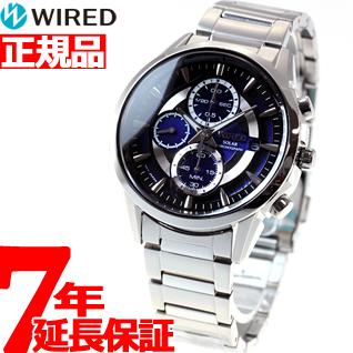 セイコー ワイアード SEIKO WIRED ソーラー 腕時計 メンズ アポロ APOLLO クロノグラフ AGAD062