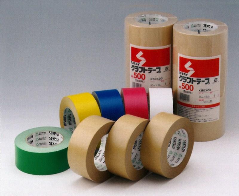 【積水化学工業】 セキスイ クラフトテープ No.500 色物 (60巻入) 38mmx50m巻
