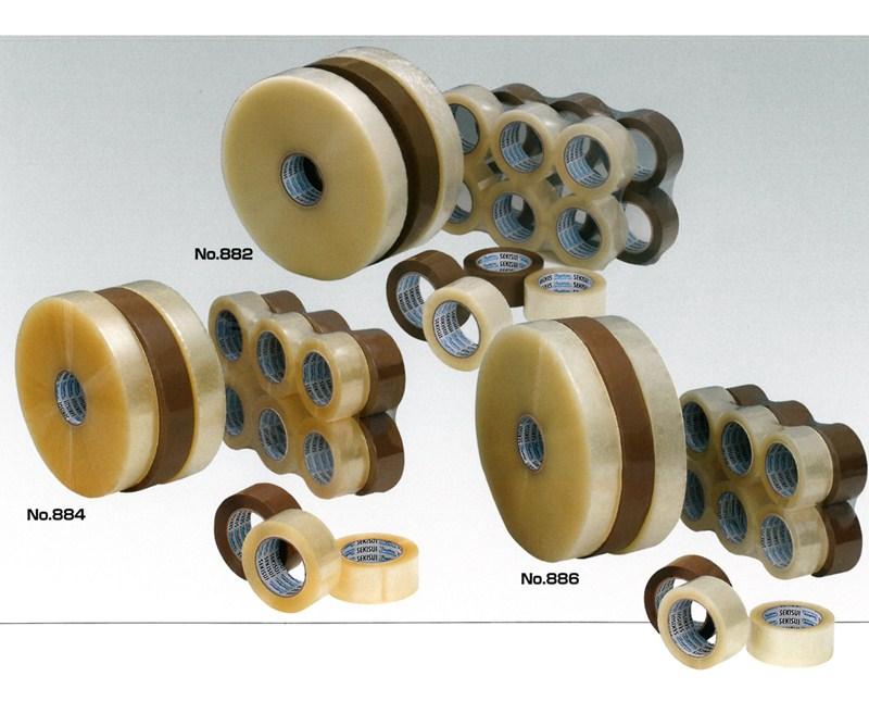 【積水化学工業】 セキスイ シュープリーム OPPテープE No.884L (透明・茶) (5巻入り) 0.062x48mmx1000m (機械巻き)