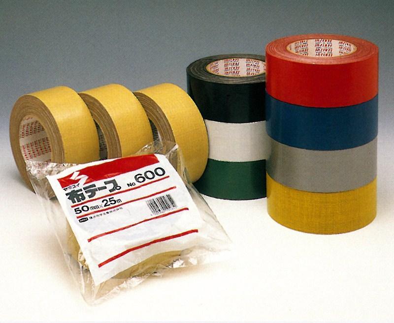 【積水化学工業】 セキスイ 布テープ No.600 黄土色 (18巻入り) 100mmx25m