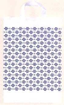 【福助工業】 カルチャー手提げ袋 モダンチェック 小 500枚入 320x380mm
