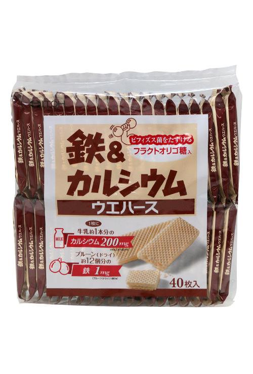鉄&カルシウムウエハース(40枚×20袋入り) T 井藤漢方製薬株式会社 ※こちらの商品は期限1年以上の対象外です。ご了承ください・